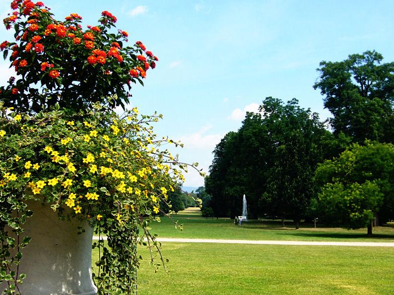 Park des kurf�rstlichen Schlosses in  Biebrich