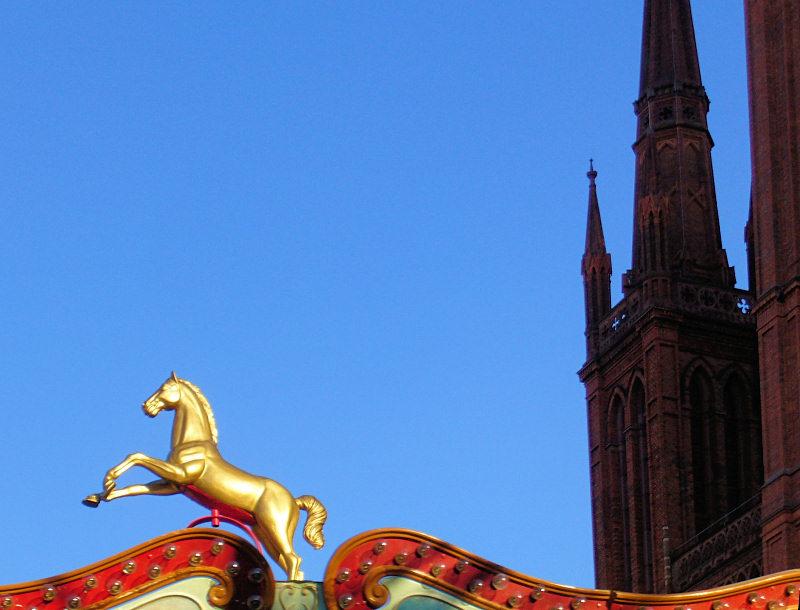 Karussel vor der Marktkirche