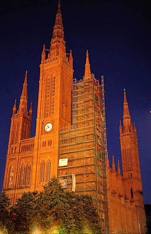 Marktkirche at night
